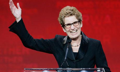 Ontario Liberals leader Kathleen Wynne