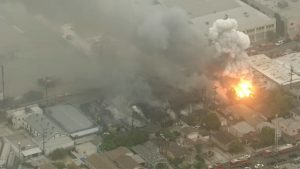 Maywood_Califpornia_Recycling_Plant_Fire_6_14_16