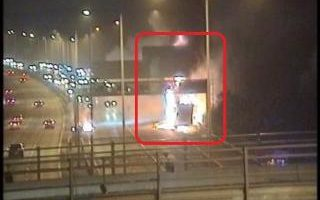 mobile_crane_explodes_on_m40_in_buckinghamshire